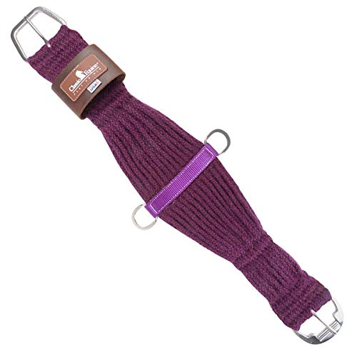 Classic Equine Horse 100% Mohair Roper Cinch Roller Buckle Soft 27 Strand Purple (28