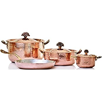 Amazon Com Amoretti Brothers Hammered Copper Cookware 7