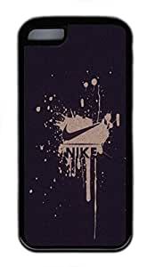 iPhone 5C Case, iPhone 5C Cases - Black Soft Rubber Shock-Absorption Bumper Case for iPhone 5C Nike Sports Water Resistant Back Case for iPhone 5C