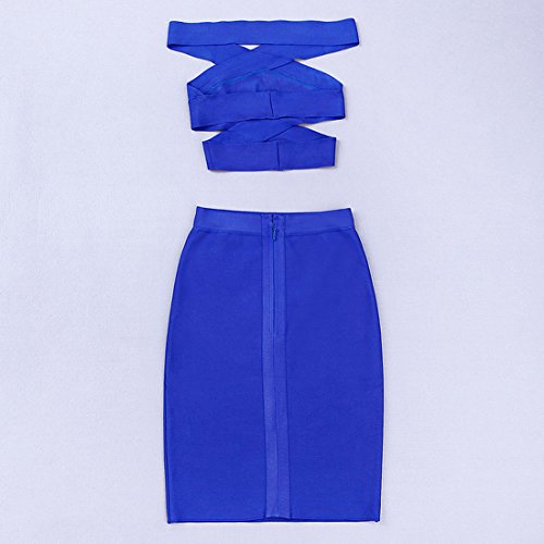 Damen Blau HLBCBG Kleid Blau HLBCBG Damen Kleid 50wYOqw