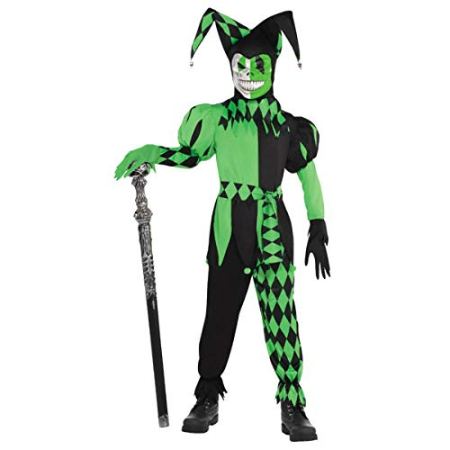 Amscan Boys Green Wicked Jester Costume - X-Large (14-16) | 2 -