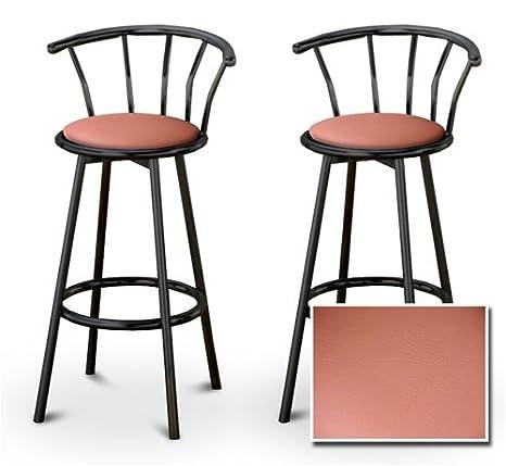 Superb Amazon Com The Furniture Cove 2 Peach Vinyl Specialty Creativecarmelina Interior Chair Design Creativecarmelinacom