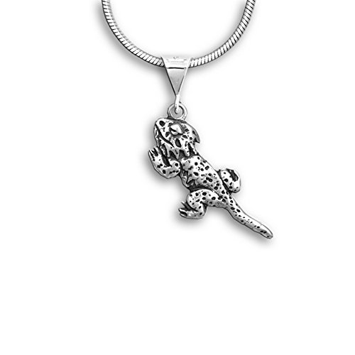 Sterling Silver Bearded Dragon Pendant by The Magic (Bearded Dragons In Costumes)