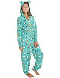 36229b7df182 Women s   Kid s Fleece Novelty One-Piece Hooded Pajamas