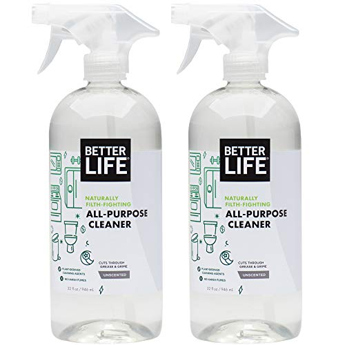 Better Life Natural All-Purpose Cleaner, Safe Around Kids & Pets, 32 Ounces (Pack of 2), 2409C