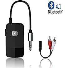 Golvery Bluetooth Receiver (Advanced Bluetooth 4.1, A2DP) - Portable Wireless Audio Adapter with 3.5 mm Jack - Enjoy HiFi Music for Home Audio Streaming or Car Kits Stereo System – Ultra Playtime