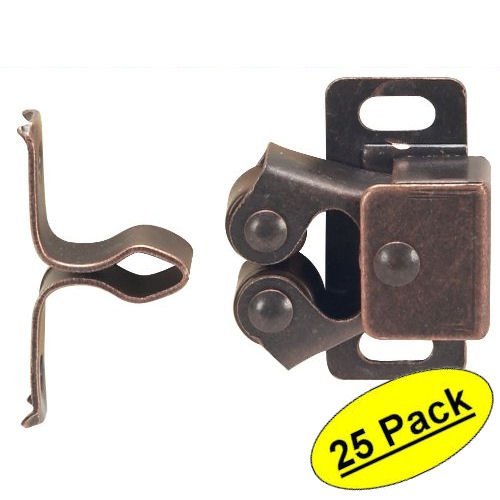 Cosmas RC112 Oil Rubbed Bronze Cabinet Hardware Zinc Alloy Roller Catch - 25 Pack by Cosmas