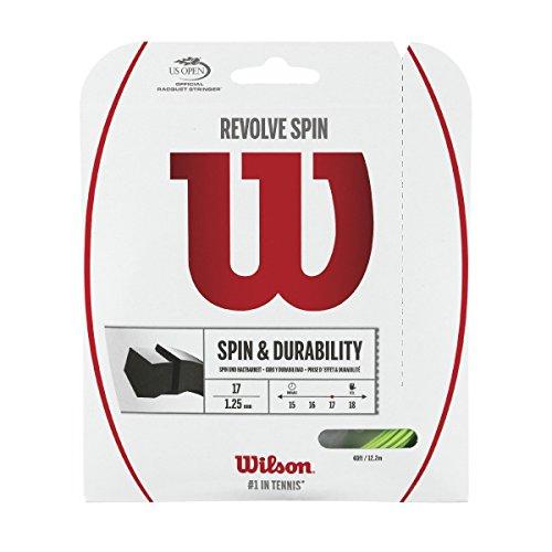 Wilson Revolve Spin 17 Gauge Green Color Poly (Polymer) Tennis String 2-Pack (2 Sets Per Order)