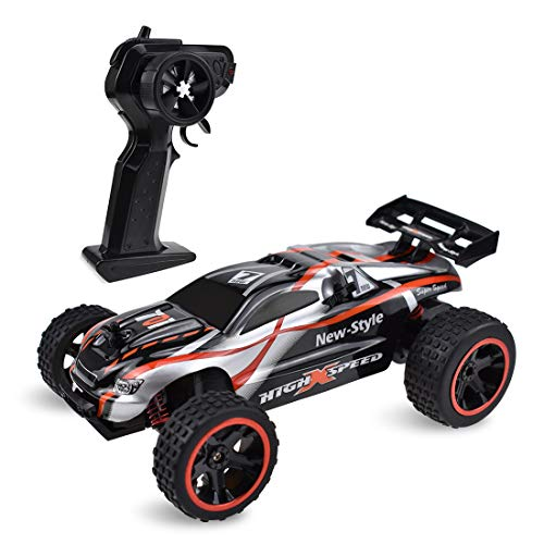 Bestamber Remote Control Car, High Speed Racing Car Electronic Hobby Car Vehicle 2.4 GHZ 1: 18 Scale RC Cars Toys for Adults Kids Boys Girls with Two Rechargeable Batteries for Car, Two AA Batteries