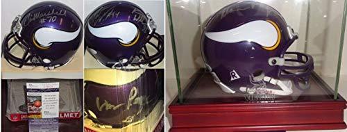 (Pat Kevin Williams Jim Marshall Alan Page Autographed Signed Vikings Mini Helmet Memorabilia - JSA)