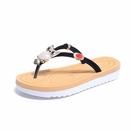 Sandales en Et Été YUCH Black Pieds Respirant Ladies' Confortables Chaussons qTcBf5c