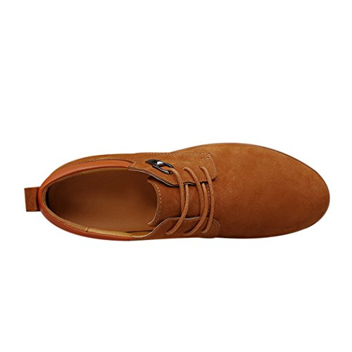 Sun Firenze Uomo Business Casual Stringate Eleganti Scarpe In Pelle Scamosciata Marrone 42