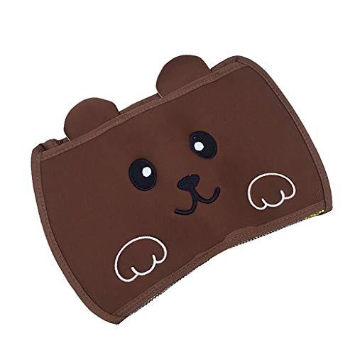 Baby Bathtub Toy Mesh Bear Storage Bag Organizer Holder Bathroom Organiser Bathtime Best (Brown)
