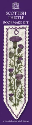 Textile Heritage Scottish Thistle Counted Cross Stitch Bookmark ()
