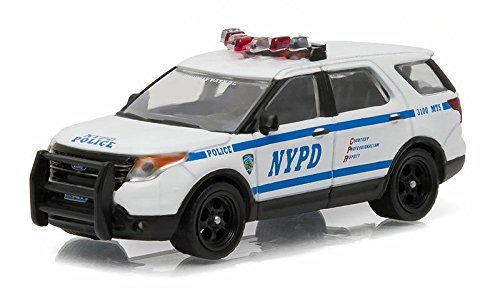 Die Cast Car Assortment - NEW 1:64 GREENLIGHT HOT PURSUIT SERIES 19 ASSORTMENT - WHITE 2015 FORD INTERCEPTOR UTILITY Diecast Model Car By Greenlight