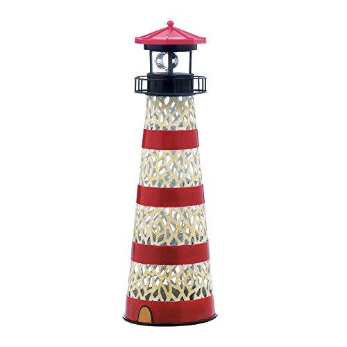 Summerfield 1 Light (Led Solar Garden Statue, Metal Lighthouse Outdoor Lights Solar Garden Statue, Iron)