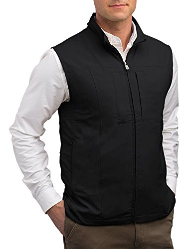 SCOTTeVEST Men's RFID Travel Vest - 26 Pockets – Travel Clothing BLK XL