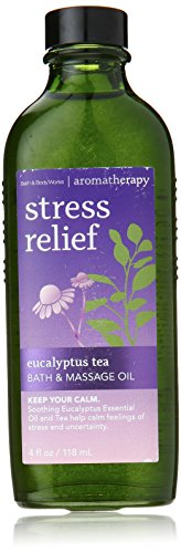 Stress Massage Oil (Bath and Body Works Aromatherapy Massage Oil 4 Oz (Eucalyptus)