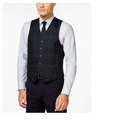 Ralph Lauren Wool Vest (Lauren Ralph Lauren Mens Wool Glen Plaid Suit Vest Green 44R)