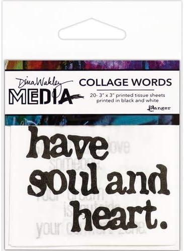 Word Set #2 Dina Wakley Media Collage Tissue Paper
