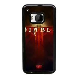 Back Skin Case Shell HTC One M9 Cell Phone Case Black diablo igry Hekmn Pattern Hard Case Cover
