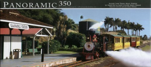 Sugar Cane New York - Panoramic 350 Piece Puzzle Sugar Cane Train Hawaii by LPF