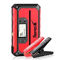 Asperx Car Jump Starter 1000A Peak 18000mAh Car Jump Pack with USB Quick Charge 3.0 (Up to 7.5L Gas or 5.5L Diesel Engine), 12V Portable Power Pack Auto Battery Booster Phone Charger with LED Flashlight and Compass