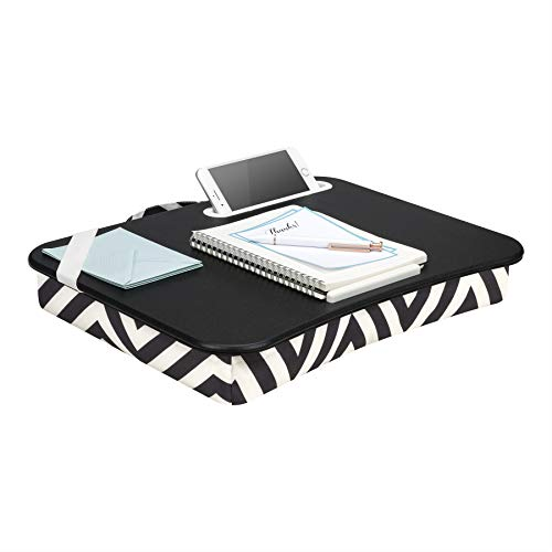 LapGear Designer Lap Desk with phone holder - Black Diamonds - Fits up to 15.6 Inch laptops - Style No. 45421 ()