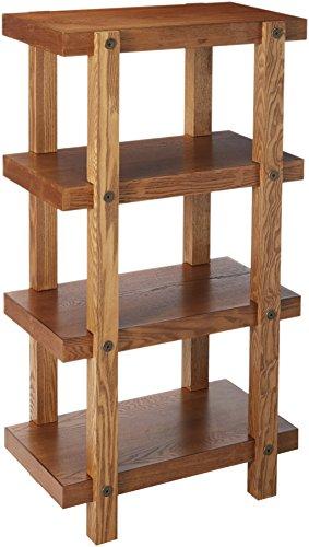 Organize It All Freestanding Rustic Wood 4-Tier Storage Shelf