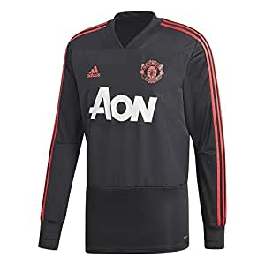 adidas MUFC TR Top - Sudadera Manchester United FC, Hombre, Negro(Negro/ROJRES/ROSBAS)