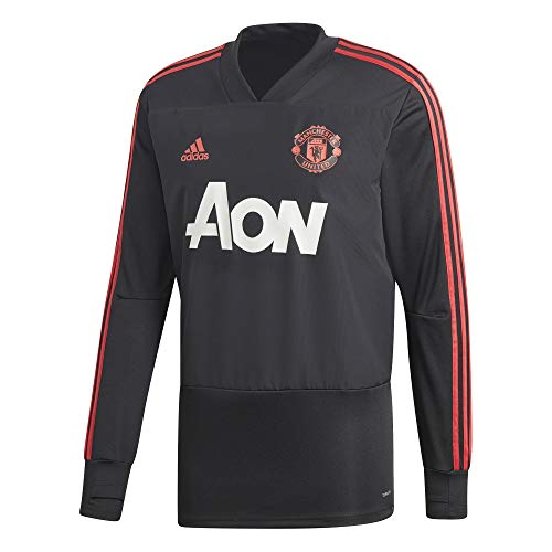 Adidas rosbas negro shirt Trg rojres Homme Top Sweat Manchester United Noir ArTnA4