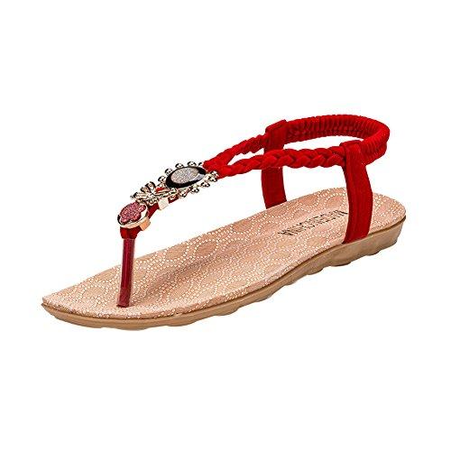 red ZAMME Pour CNPSHOE135 Femme Sandales zI0wP7rI