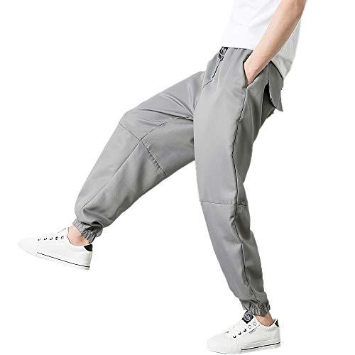Jogger Gris Hommes Sportif Pantalon Jogging Mode Kaister Ample Décontracté De 1nqpHTx