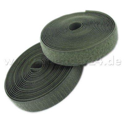 Farben: khaki 4m Klettband 25mm breit zum Aufnaehen Flausch und Haken