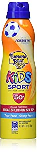 Banana Boat Kids Sport Tear-Free, Sting-Free Broad Spectrum Sunscreen Lotion Spray, SPF 50+ - 6 Ounce