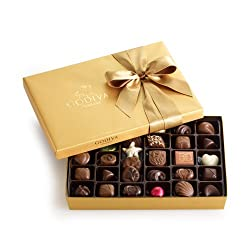 Godiva Chocolatier Gold Ballotin, Classic Gold Ribbon, Great For Gifts, 36 Piece