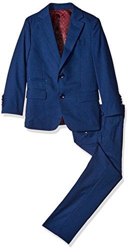 Big 3 Piece Two Button Birdseye Suit Set, Navy, 16 ()