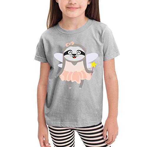 Wiongh Opp Sloth Halloween Costume Short Sleeve T Shirt for 2-6T Girls -