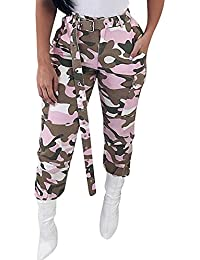 Women's High Waisted Slim Fit Camoflage Camo Jogger Pants...