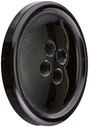 Slimline Buttons Series 1-Black 4-Hole 3/4 3/Card