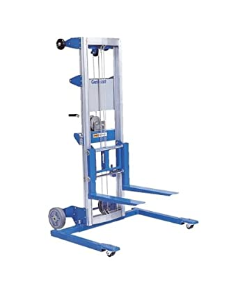 "Genie Lift, GL- 12, Straddle Base, Heavy-Duty Aluminum Manual Lift, 350 lbs Load Capacity, Lift Height 13' 9.5"" from Ground Level"