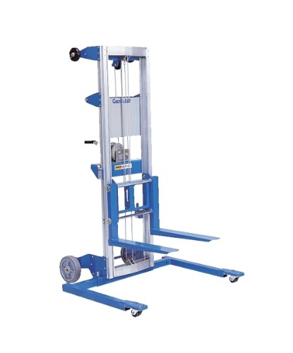 - Genie Lift, GL- 12, Straddle Base, Heavy-Duty Aluminum Manual Lift, 350 lbs Load Capacity, Lift Height 13' 9.5