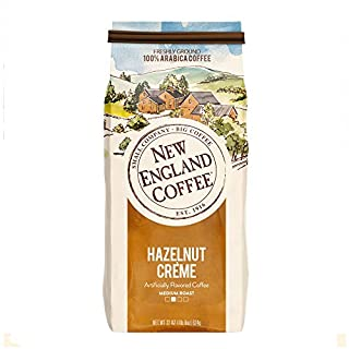 New England Coffee Hazelnut Crème Medium Roast Ground Coffee 22 oz. Bag