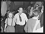 Vintography Reproduced Photo of at a Saturday Night Square Dance in Clayville, Rhode Island 1940 Delano C Jack 21a
