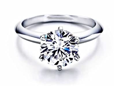 6 Prong Round Cut 1 00ct Tiffany Style Engagement Ring 14k Yellow