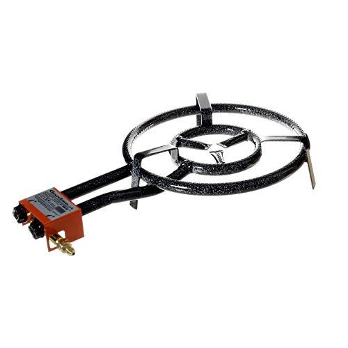 Paella Set - Garcima Paella Dual Ring Butane/Propane Gas Burner, Black, 40 cm