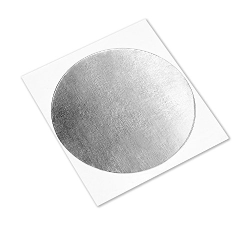 3M 1120 Silver Aluminum Foil Tape with Conductive Acrylic Adhesive, 4'' Diameter Circles (Pack of 100) by 3M (Image #1)
