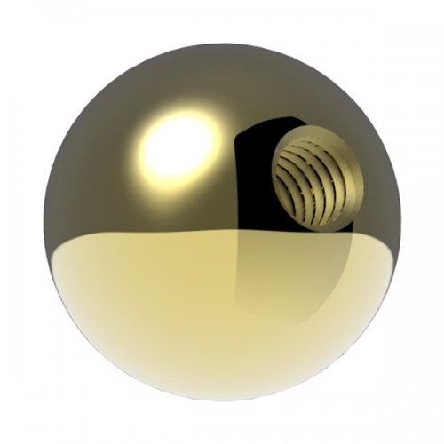 Messingkugel massiv ø 20mm, mit M6 Gewinde, spezialbeschichtet für Innen- und Außenbereich edelstahlonline24