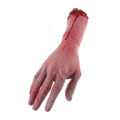 Bloody Cut Off Fake Lifesize Arm Hand Scary Halloween Prop by ETS -