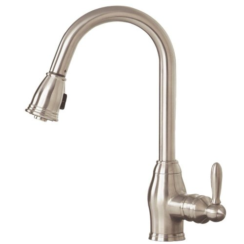 Pegasus FP0A5013BNV Newbury Pull-Out Spray Kitchen Faucet, Brushed Nickel (Bottom Mount Kitchen Faucet)